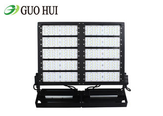 1000W LED Waterproof LED Flood Lights150lm / W With Meanwell Driver Fin Type Heatsink